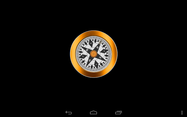 Screenshot compass using magnetic field sensor and accelerometer