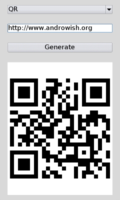 Screenshot barcode generation using ZINT